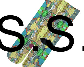 Crew Socks - Rick and Morty Finger ! Cartoon Comedy Science elites elite sock