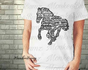 Horse Lovers, Horse Fanatic Shirt, Girls, Tween, Teen, Ladies Shirts, Equestrians, Horse Mom, Horse Rider, Ponies, Animal Lover, Horse Words