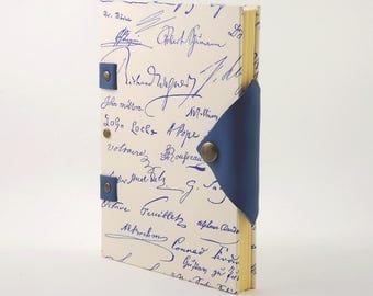 Carnet pour lui, cadeau de Saint Valentin, carnet 180 pages fermeture pression, grimoire, petit carnet de notes