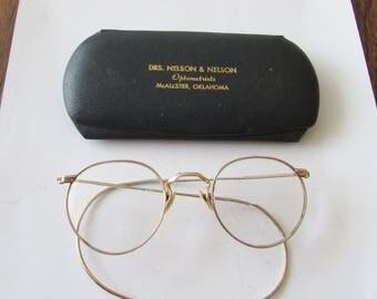 Vintage Gold Filled Wire Frame Eyeglasses GF Bifocal Pair Glasses Goldtone