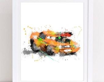 disney cars print, disney cars poster, watercolor cars, disney watercolor, watercolor disney, nursery disney, disney nursery, disney poster,