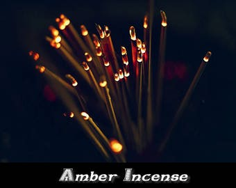 Amber Incense 100 Sticks | Stick Incense | Amber | Wicca Incense | Witchcraft Supplies | Metaphysical Incense | Psychic