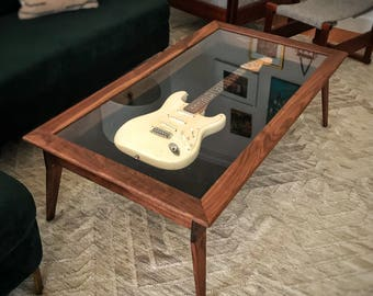 guitar coffee table etsy. Black Bedroom Furniture Sets. Home Design Ideas