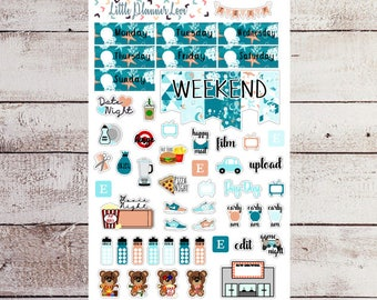 Ocean of Fun Functional Planner Sticker Sheet for all Planners