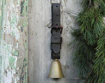 Vintage antique old animal Bell Bells rustic Franske danske Shabby