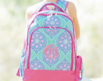 Monogrammed Marlee Backpack ~ Monogrammed girls backpack ~ Back to school backpack