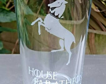 Game of Thrones House Baratheon Engraved Pint Glass