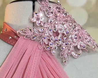 dance costume hair accessory; matching to your costume with Swarovski stones