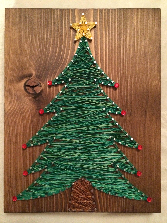 Custom Christmas Tree String Art Winter Wall Art Holiday