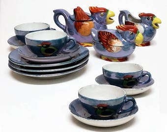 Children's Vintage Lusterware Tea Set