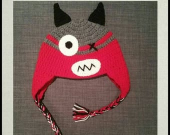 Monster Hat crochet - baby or child - mixed or boy - baby gift or birthday - halloween