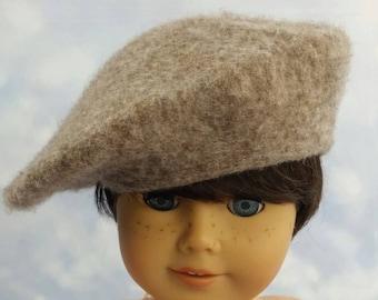"""Handmade Felt Beret Hat for American Girl Doll 18"""" Dolls"""