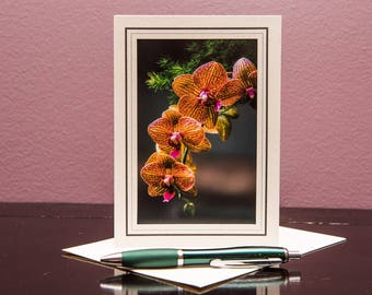 Orchids No.1-Greeting cards-Note Cards-Flower-Nature-Happy Birthday-Family-Love-Photo Card-Floral-Wedding-Celebration-Congratulation-Gift