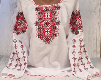 Embroidered Ukrainian Blouse Vyshyvanka