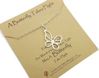 Sympathy Gift, Memorial Jewelry, Butterfly Necklace Silver, Memorial Necklace, Butterfly Jewelry, Butterfly Memorial Necklace