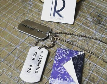 Customized Hand Stamped DogTags