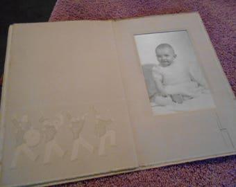 Vintage Baby Photo In Folder