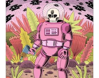 Dead Astronaut - A2 Digital Print