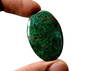 Chrysocolla 36 Cts AAA Quality Natural Gemstone Attractive Designer Oval Shape Cabochon 35x23x4 MM R14135