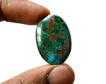 Chrysocolla 32 Cts AAA Quality Natural Gemstone Attractive Designer Oval Shape Cabochon 28x20x5 MM R14394