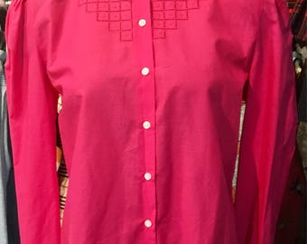 1990' Cacharel pink blouse. Size M.