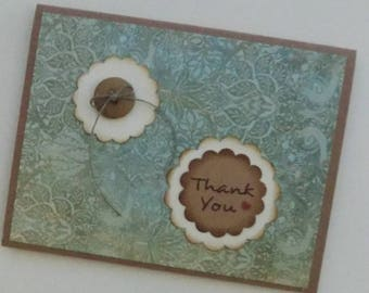 Homemade Thank You Card, HandstamedThank You Card, Handcrafted Thank You Card, Appreciation, Gratitude, Many Thanks, Handmade Card