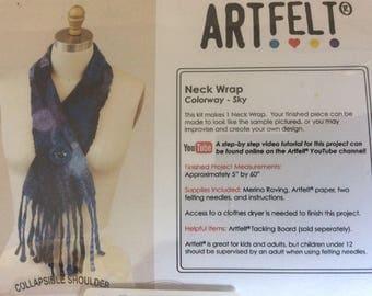 Artfelt Neck Wrap Cowl Kit - Sky - blues