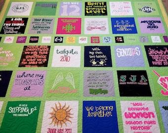 Tshirt quilts custom | Etsy : custom tshirt quilts - Adamdwight.com