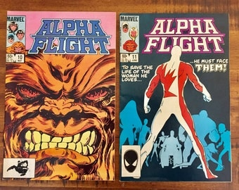 1984 Alpha Flight #10 and #11 Comic Books / Vol. 1 / Marvel Comics / Hulk / Sasquatch /Invisible Woman /Get Both For a Discounted Price!!!