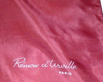 """Rémon d'Urville burgundy silk square  17"""" x 17"""""""