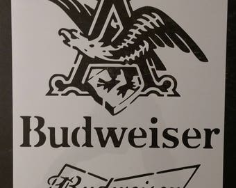 Bud Budweiser King of Beers Beer Custom Stencil FAST FREE SHIPPING