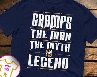 Shirt for Gramps, Custom Gramps, Personalized Gramps Shirt, Father's Day, Gramps Shirt, Gramps TShirt, Man Myth Legend, Christmas, Gramps