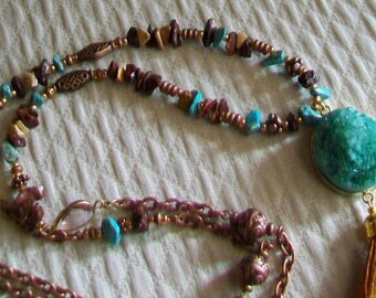 Necklace long ethnic vintage style