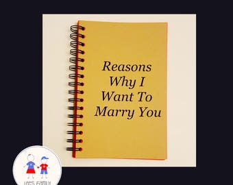 Reasons Why I Want To Marry You Journal