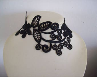 Bridal necklace wedding floral Black Lace evening holiday ceremonies
