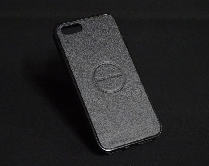 Jimmy Case - Fits Apple iPhone 5 5S - Black - Kangaroo leather - Handmade - James Watson