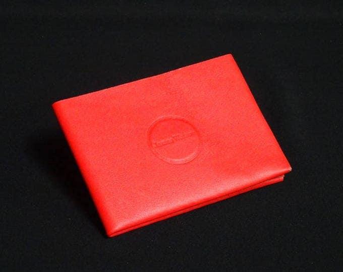 6Pocket Wallet - Red - Kangaroo leather with RFID credit card blocking - Handmade - Mens/Womens - James Watson
