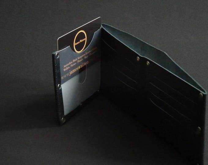 Pocket13 with ID Wallet - Black - Kangaroo leather with RFID credit card blocking - Handmade - Mens/Womens - James Watson