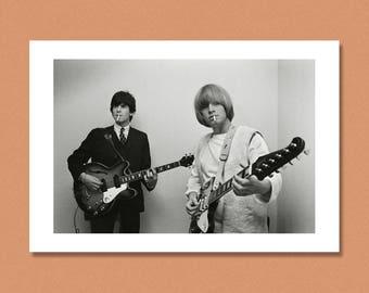 THE ROLLING STONES - Keith Richards & Brian Jones, Germany 1965 --- Giclée/Photo print