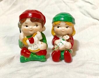 Avon Christmas Elf Salt & Pepper Shakers