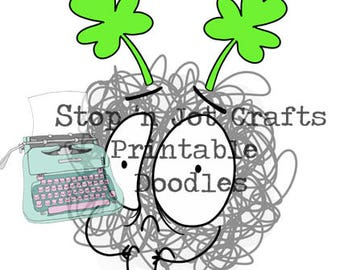 St. Patty's Day Anxiety Buddy Printable Clip Art
