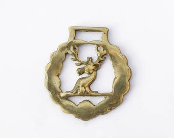 Stag Horse Brass Christmas Tree Decoration - Equestrian Collectable Vintage