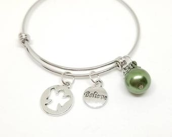 Angel bracelet - Christmas charm bracelet - Christmas bracelet - Christmas bangle - holiday bracelet - Angel bangle
