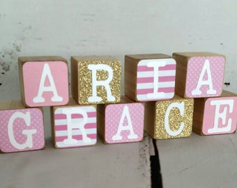 Wooden Name, Name Blocks, Wooden Blocks, Nursery Blocks, Childs Blocks, Baby Blocks, Colored Blocks, Wooden Baby Name, Blocks, Photo Prop
