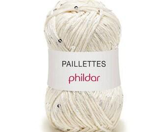 Mother of Pearl SEQUINS - PHILDAR yarn skein