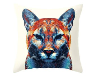 Puma Pillow - Colorful Animals