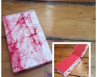 Handmade Jotter Notebook with Pencil Covered in a Merchant & Mills Cotton Fabric