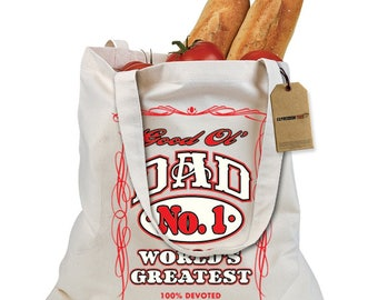 Good Ol Dad 100% Devoted Shopping Tote Bag