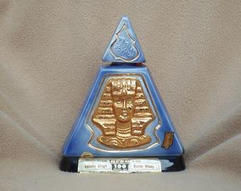 Vintage 1970 Jim Beam Liquor Decanter; Jim Beam Indiana Pyramid Decanter