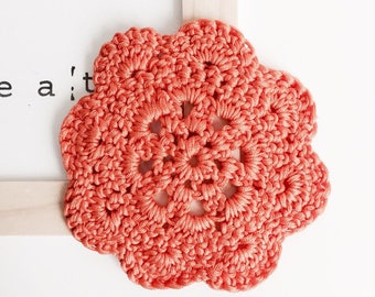 DELICATE Orange crochet doily